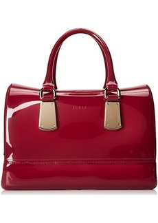 FURLA Candy Medium Satchel with Metal Hardware Top Handle Bag