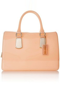 FURLA Candy Medium Satchel with Metal Hardware Top Handle Bag