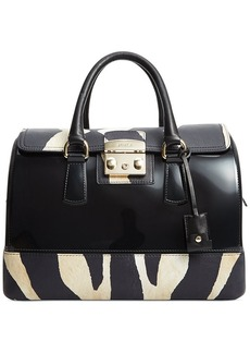 Furla Candy Vanilla Medium Satchel Zebra
