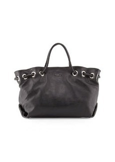 Furla Carmen Leather Tote Bag, Onyx