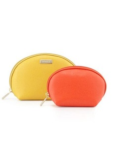 Furla Classic Leather Cosmetic Two-Pouch Set