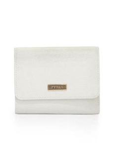 Furla Classic Tri-Fold Wallet, Petalo (White)