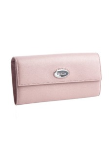 Furla cosmopolitan rose leather snap flap continental wallet