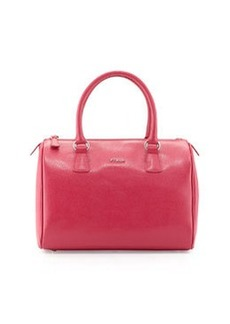 Furla D-Light Leather Satchel Bag, Pink
