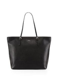 Furla D-Light Leather Tote Bag, Onyx