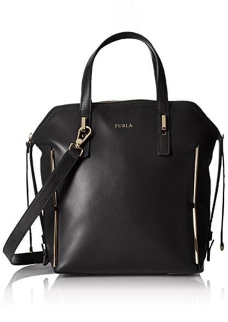 furla furla dandy medium dome shoulder bag onyx one size handbags shop it to me. Black Bedroom Furniture Sets. Home Design Ideas