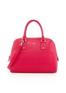 Furla Elena Leather Satchel Bag, Gloss Pink