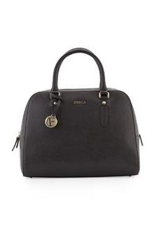 Furla Elena Medium Leather Satchel Bag, Onyx