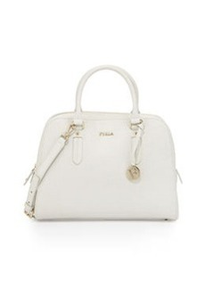 Furla Elena Medium Leather Satchel Bag, White
