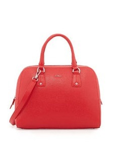 Furla Elena Saffiano Satchel Bag, Red Fiamma