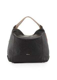 Furla Elisabeth Leather Hobo Bag, Onyx