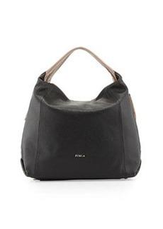 Furla Elisabeth Leather Hobo Bag, Onyx