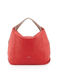 Furla Elisabeth Leather Hobo Bag, Red