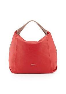 Furla Elisabeth Leather Hobo Bag, Red