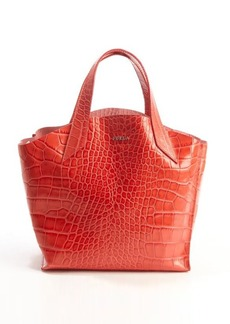 Furla fiamma croc embossed leather 'Jucca' tote
