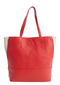Furla flame and marble leather 'Amazon' tote