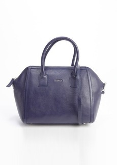 Furla ink blue leather 'Alice S' satchel