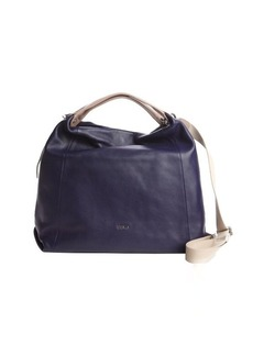 Furla ink blue leather 'Elizabeth' extra large hobo