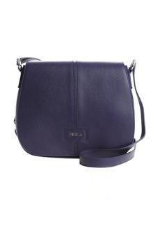 Furla ink blue leather 'Manola' medium messenger bag