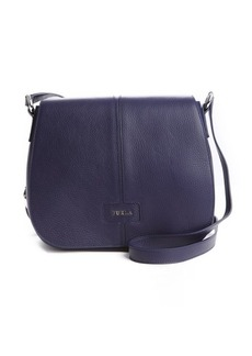 Furla ink blue leather 'Manola' medium messenger bag