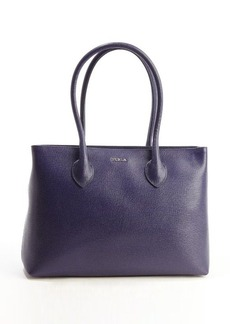 Furla ink blue leather top handle 'Martha' satchel