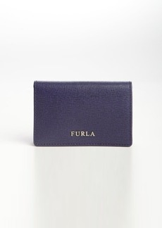 Furla ink leather bussiness card case