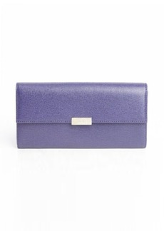 Furla ink leather front flap continental wallet