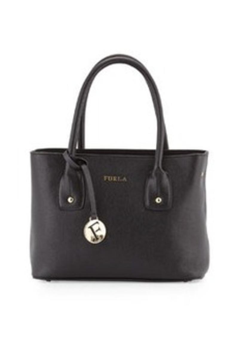 furla furla josi small leather tote bag onyx handbags shop it to me. Black Bedroom Furniture Sets. Home Design Ideas