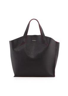 Furla Jucca Saffiano Tote Bag, Onyx/Pink