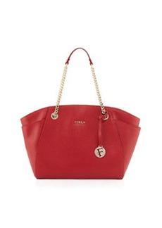 Furla Julia East-West Leather Tote Bag, Cabernet