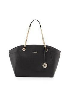 Furla Julia East-West Leather Tote Bag, Onyx