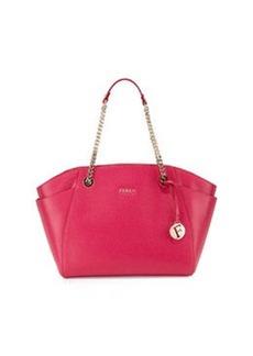 Furla Julia East-West Leather Tote Bag, Pink