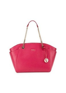 Furla Julia East-West Leather Tote Bag, Pink