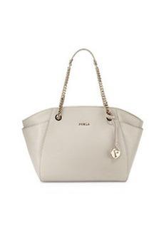 Furla Julia East-West Leather Tote Bag, Stone