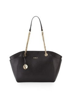 Furla Julia Medium Leather Tote Bag, Onyx