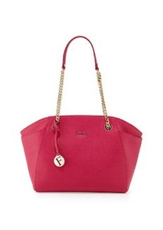 Furla Julia Medium Leather Tote Bag, Pink Gloss