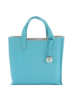 Furla laguna crosshatched leather 'Musa' medium tote