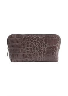 Furla lead croc embossed leather zip case