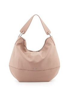 Furla Manola Leather Hobo Bag, Taupe Amande