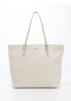 Furla marble leather 'D-light' medium top handle satchel