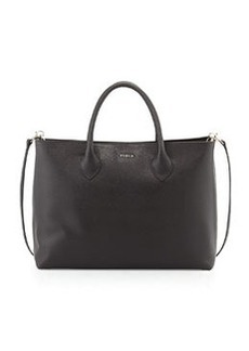 Furla Martha Large Saffiano Tote Bag, Black Onyx
