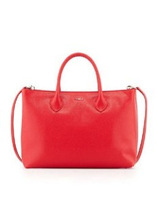 Furla Martha Large Saffiano Tote Bag, Red Fiamma