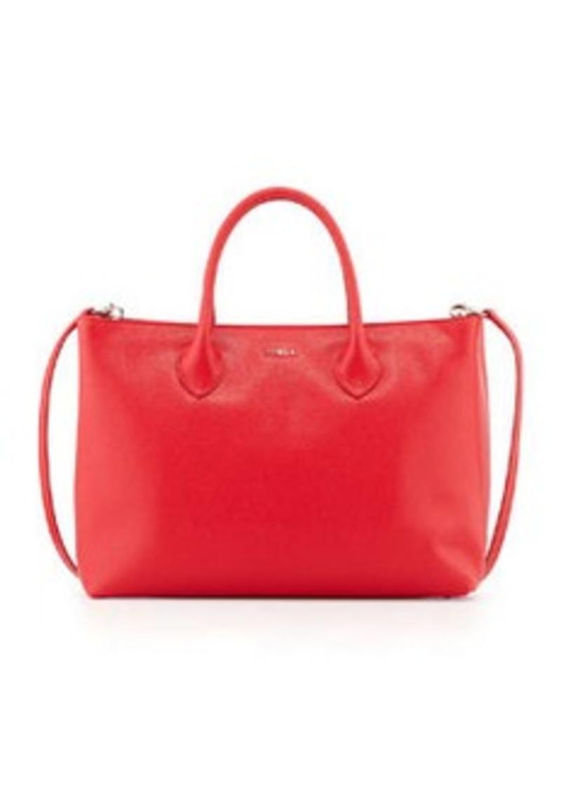 furla furla martha large saffiano tote bag red fiamma handbags shop it to me. Black Bedroom Furniture Sets. Home Design Ideas