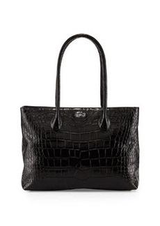 Furla Martha Leather Satchel Bag, Onyx
