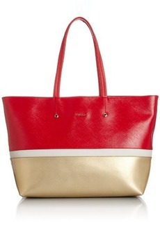 FURLA Melissa Medium Tote Tri Color Shoulder Handbag
