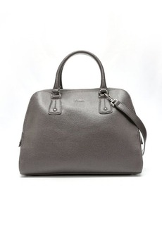 Furla mist crosshatched leather 'Elena' medium satchel
