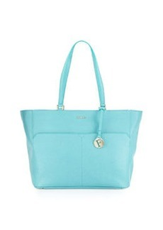 Furla Musa Medium Pocket Leather Tote Bag, Laguna