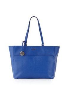 Furla Musa Medium Pocket Leather Tote Bag, Ocean