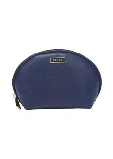 Furla navy and emerald leather 'Classic' cosmetic case set