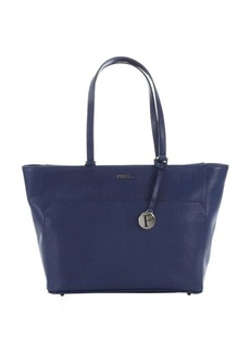 Furla navy crosshatched leather large 'Musa' tote
